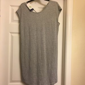New Medium GAIAM Grey Tunic Yoga Dress
